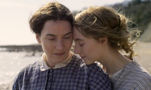 Kate Winslet, left, and Saoirse Ronan in Ammonite.