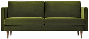 Green two-seater sofa