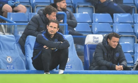 Frank Lampard watches on as his team beat Watford on Saturday.
