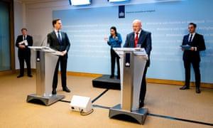 Dutch Prime Minister Mark Rutte, on 23 March 2020.