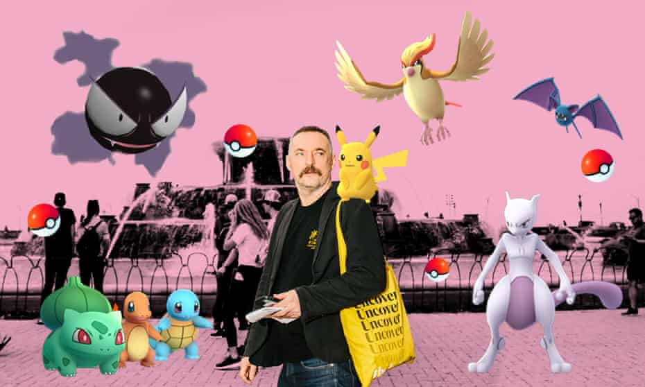 Gotta catch em all! Dominic Rushe with his Pokemon.