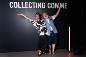 Julia Browne and James Nolen at the National Gallery of Victoria's fashion exhibition Collecting Comme