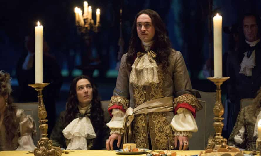 Who's the fairest of them all? Alexander Vlahos, left, and Blagen in Versailles.