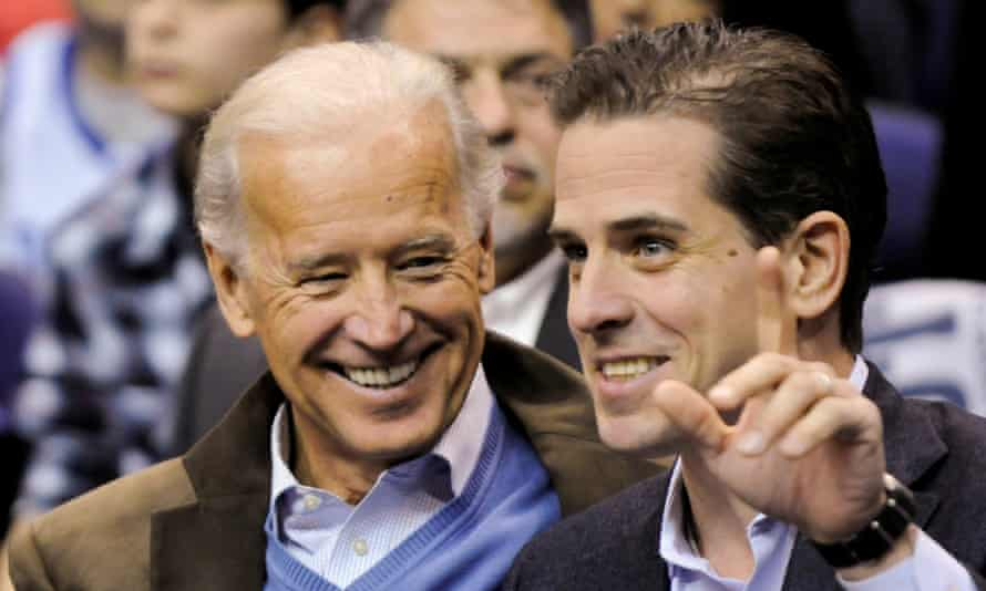 Hunter Biden with his father, the former vice-president and Demcoratic presidential candidate Joe Biden in 2010.