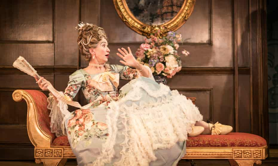 Absurd and likable … Haydn Gwynne as Lady Wishfort in The Way of the World.