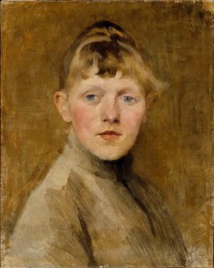 Self-portrait, 1884-85 by Helene Schjerfbeck.