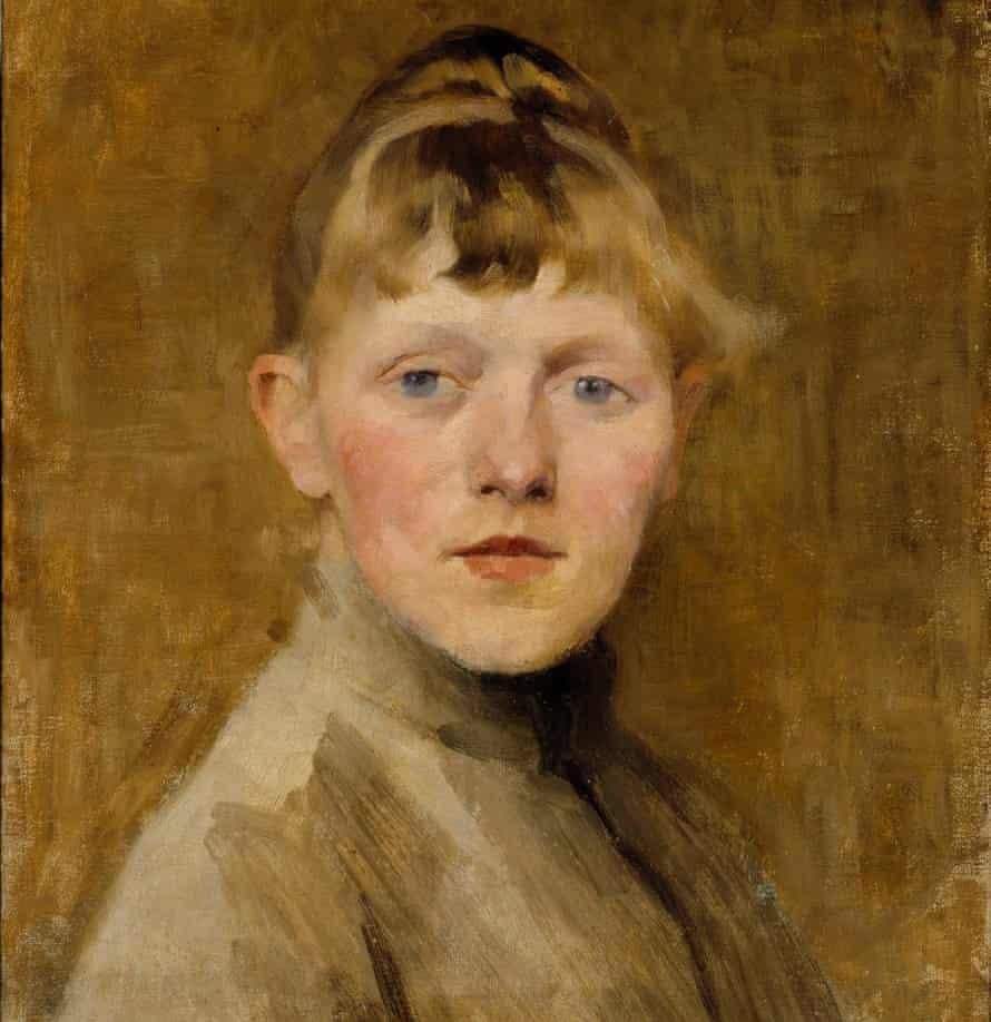 Helene Schjerfbeck's Self-Portrait, 1884-85.