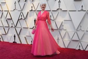 Helen Mirren arrives in a multi-toned gown.