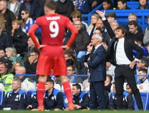 Antonio Conte shouts instructions from the sidelines.