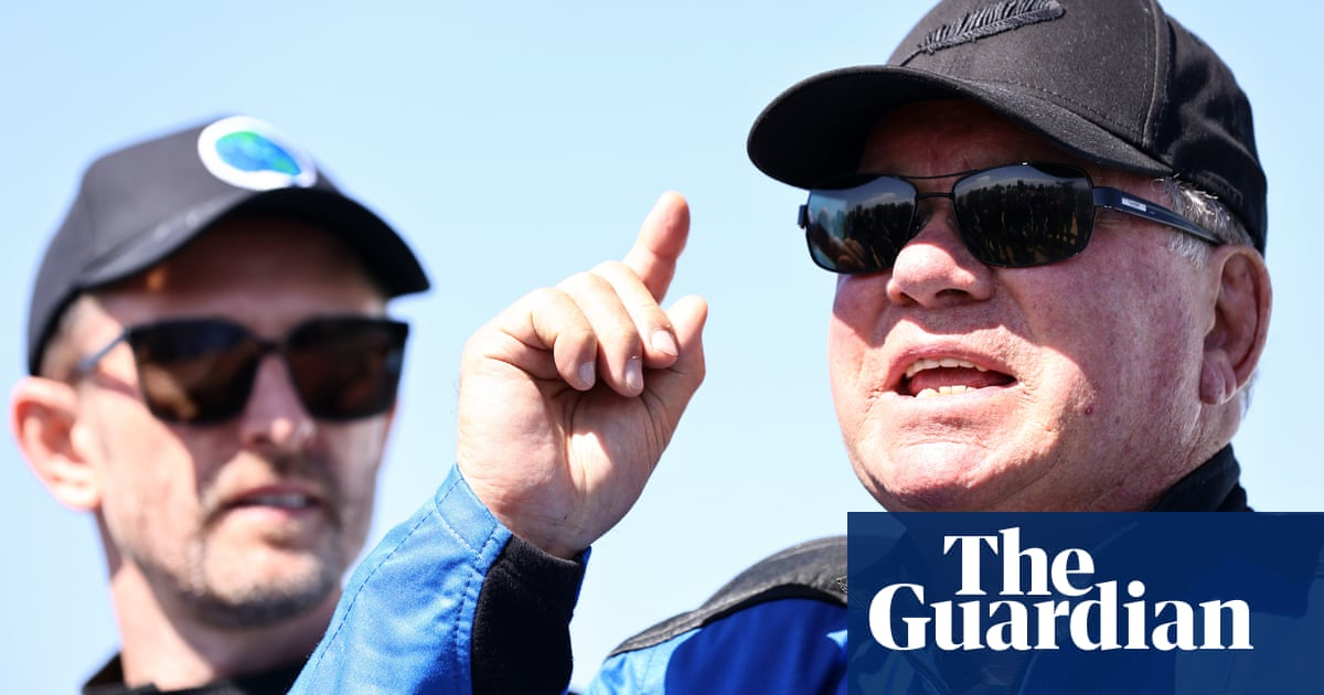 'This comforter of blue': how Shatner's blast into space became an ode to Earth
