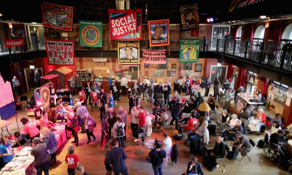 Momentum's Labour party conference Fringe Festival of Politics in Liverpool.