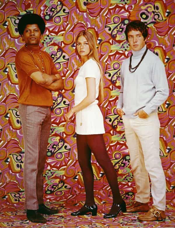In The Mod Squad with, left, Clarence Williams III and Michael Cole.