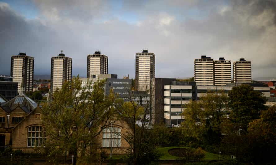 The Seven Sisters tower blocks in Rochdale