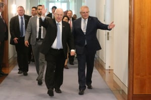 The prime minister Scott Morrison meets with the President of the state of Israel Reuven Rivlin