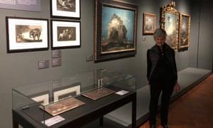Art historian Juliet Bareau-Wilson at the Goya exhibition in Agen, France.