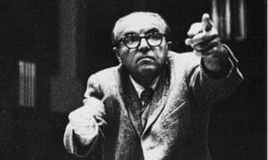 Ernst Krenek rehearsing his opera Johnny Spielt Auf in about 1965.