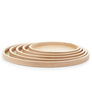 Concentric tray set, £130, by Margaret Howell.