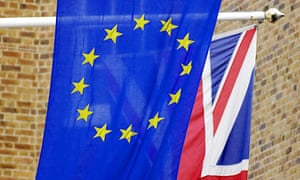 EU and union flags. Downing Street has already accepted the Electoral Commission's recommendation that the referendum should ask voters if they want to 'remain' or 'leave' the European Union.