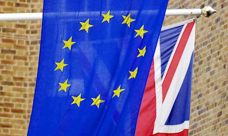 union jack uk eu european union flags