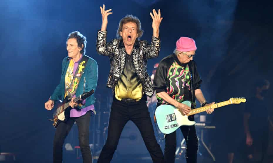 The Rolling Stones performing in Nashville, Tennessee on their US tour.