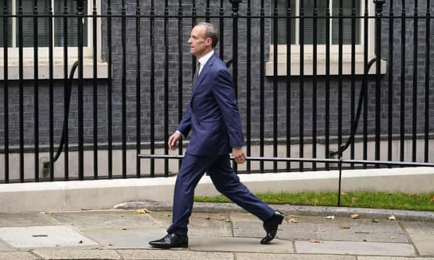 Dominic Raab lost his job as foreign secretary.