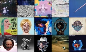 Albums of 2017: top row, Wolf Alice, Father John Misty, Paramore, Broken Social Scene, King Krule; middle row, Jens Lekman, Fever Ray, Lorde, Les Amazones d'Afrique, Jane Weaver; bottom row, Thundercat, Jlin, J Hus, Baxter Dury, Vince Staples