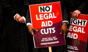 Barristers protesting against cuts to legal aid.