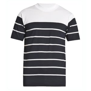 Navy and white stripes t-shirt