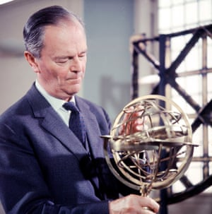 Sir Kenneth Clark at the Old Royal Observatory, Greenwich.