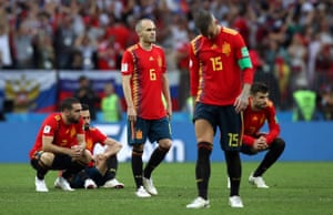 Sergio Ramos, Andrés Iniesta and their Spain team-mates reflect on defeat to Russia.