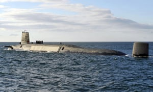 Trident nuclear submarine HMS Victorious on patrol off the west coast of Scotland