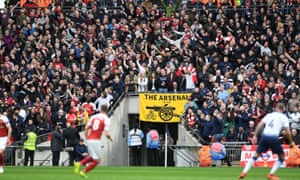 Arsenal supporters find their voice during their team's 1-1 draw with Tottenham at Wembley on 2 March. But will they be singing or sulking on 1 June?