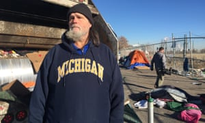 Robert Jessup, aged 50, has been homeless for 30 years and in Denver for five years.