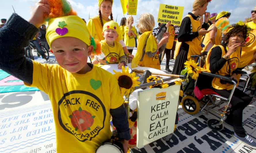 Anti-fracking campaigners in Blackpool