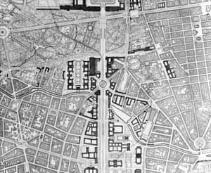 The plans for the construction of Germania involved tearing down enormous sections of Berlin to build a complex new systems of buildings and roads.