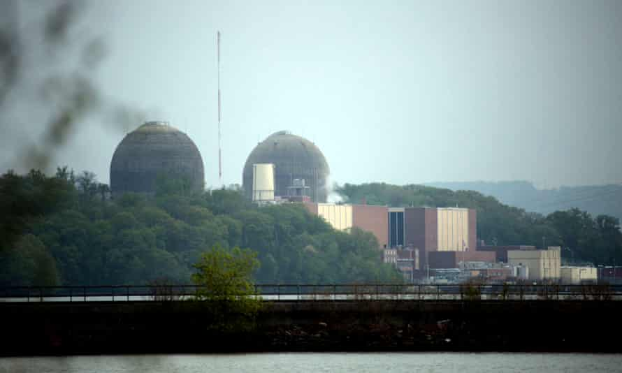 This Saturday, May 9, 2015 photo shows the Indian Point Energy Center in Buchanan, N.Y. after a company spokesperson said a transformer failed and caused a fire at the Unit 3 nuclear power plant. The fire was extinguished and the unit shut down automatically according to the company. (Ricky Flores/The Journal News via AP)