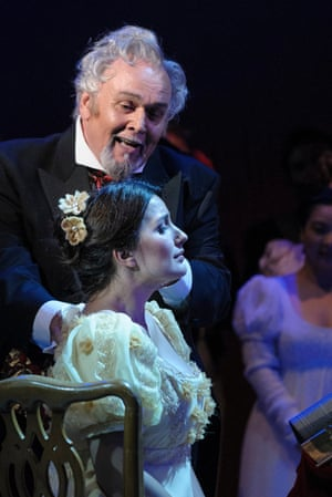 'True class': David Rendall and Anna Patalong in Dorset Opera's Eugene Onegin.