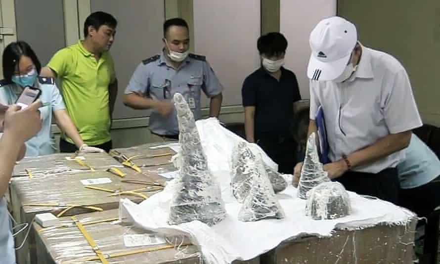 Rhino horns found smuggled into Vietnam can fetch up to $60,000 per kilo.