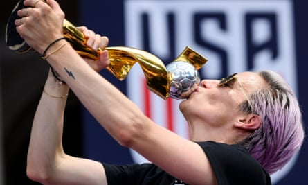 """""""We won't accept anything less"""": Megan Rapinoe has led calls for the US women's team to earn the same as the men's side."""