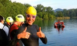 Women ready to swim in Triathlon, Spain.