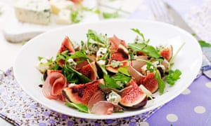 Figs with prosciutto.
