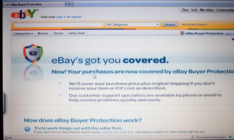 Getting you covered: but it's a no from eBay, Paypal or Royal Mail?