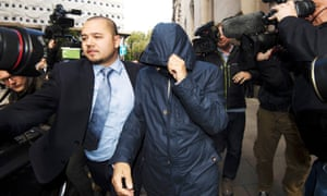 Fake Sheikh Mazher Mahmood leaves the Old Bailey in London, where he and his driver Alan Smith have been found guilty of conspiring to pervert the course of justice in the case of pop star Tulisa Contostavlos.