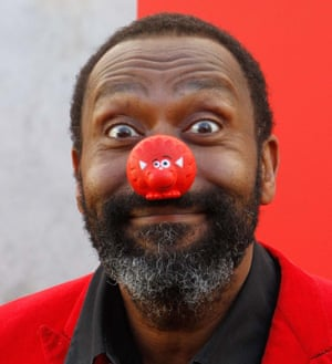 Lenny Henry in a Comic Relief red nose