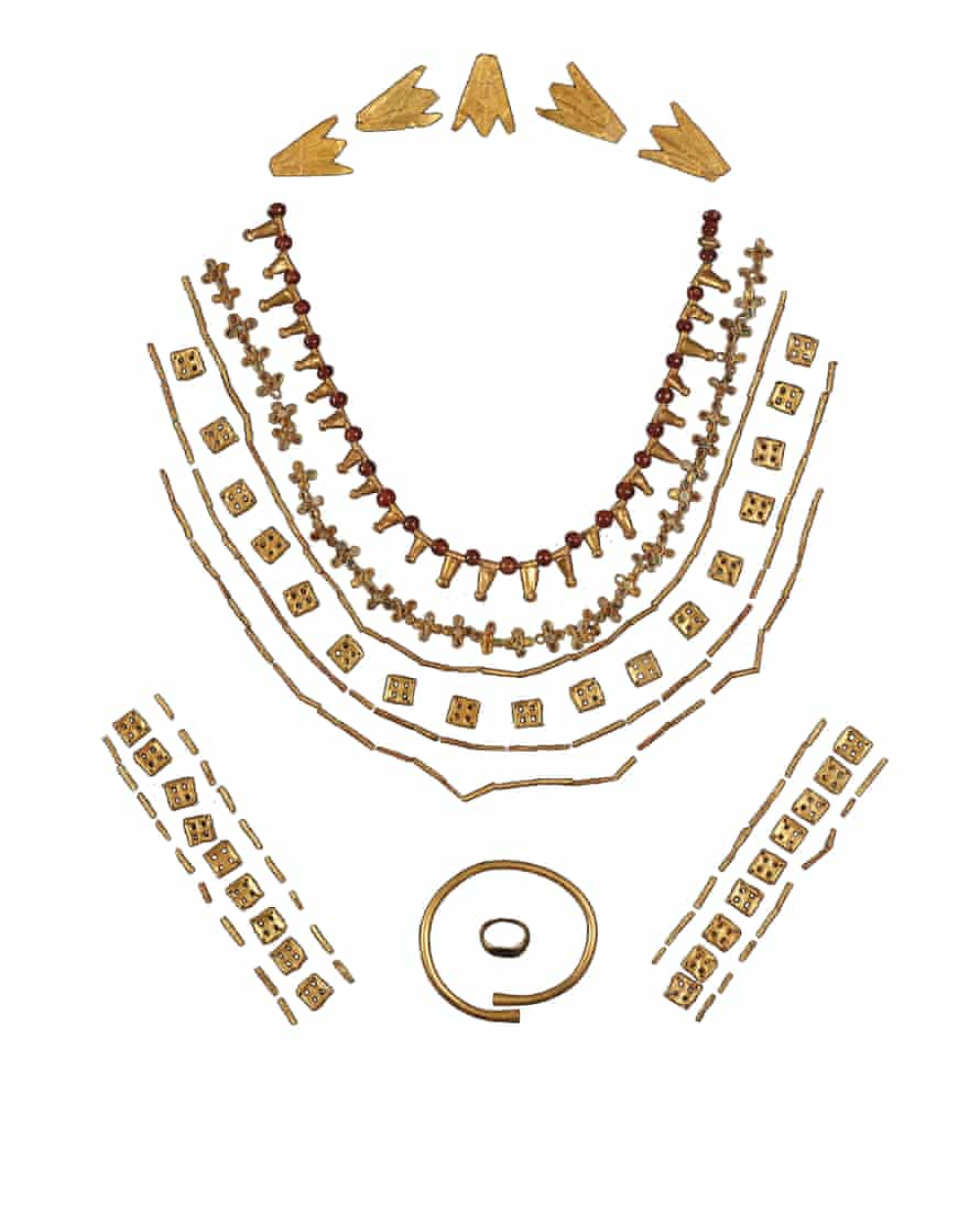 Jewellery was among the items on loan to the museum.