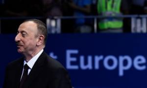 Azerbaijan's president, Ilham Aliyev