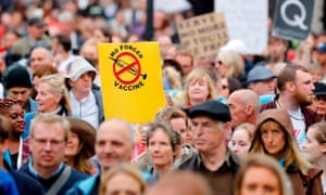 Protesters march down Whitehall in central London during an anti-lockdown demonstration organised by Save our Rights