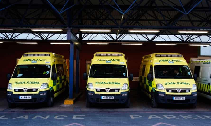 Ambulances waiting outside casualty