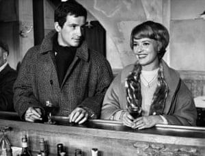 Jean-Paul Belmondo and Jeanne Moreau in Moderato Cantabile, 1960