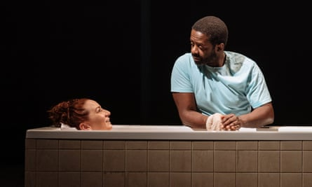 Mutual need … Katy Sullivan and Adrian Lester in Cost of Living.